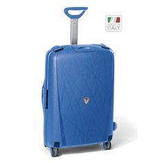 Mittelgroßer #Reisekoffer Roncato Light bei Koffermarkt: ✓4 Rollen ✓Polypropylen-Hartschale ✓Rahmenkoffer ✓blau ⇒Jetzt kaufen