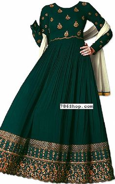 Teal Georgette Suit | Buy Pakistani Fashion Dresses and Clothing Online in USA, UK