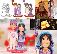 Pakistani Wedding Cake Toppers and Decorations