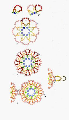 Pattern for amazing bracelet and earrings by Beads Magic