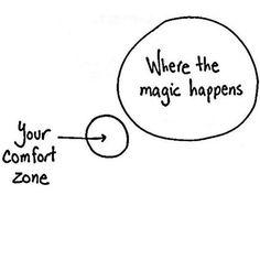 Everything you're ever wanted is one step outside your comfort zone! Vil du gerne være iværksætter og gøre en forskel? Så skal du være parat på at forlade din comfort zone!