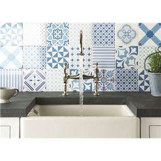 Baldosa de pared de cerámica: aspecto victoriano MARQUEE BLUE ORIGINAL STYLE