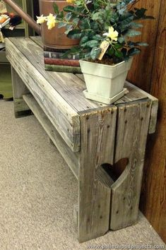 Pallet Bench                                                                                                                                                                                 More #WoodworkingBench #woodworkingshop