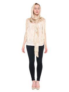 Silk Ribbon Crochet Hooded Shawl