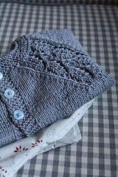 lovely free baby sweater pattern by MacsAngel