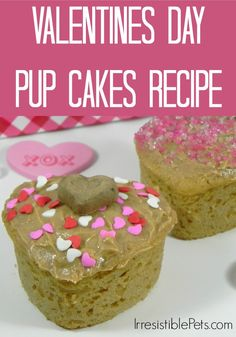 Valentines Day Pup Cakes Recipe via IrresistiblePets.com