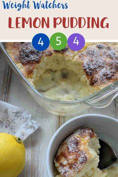 This wonderful self saucing lemon pudding is easy to make and tastes great. Just 4 SmartPoints per portion on Weight Watchers Blue & Purple plan and 5 SmartPoints on WW Green plan. Weight Watchers Pasta, Weight Watcher Cookies, Weight Watchers Desserts, Ww Recipes, Snack Recipes, Dessert Recipes, Family Recipes, Ww Desserts, Delicious Desserts
