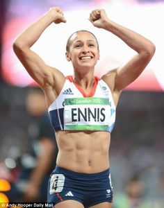 Show more women's sport, TV chiefs told: Athletes like Jess Ennis seen as 'powerful' role models Jess Ennis, Jessica Ennis Hill, Running Pose, Heptathlon, Mo Farah, Tennis, Sporty Girls, Girls Fit, Olympic Champion