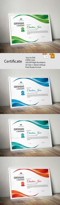 #Certificate - Certificates #Stationery Download here:     https://graphicriver.net/item/certificate/20466452?ref=alena994