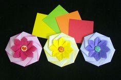 Origami Maniacs 212: Octagonal Flower Coaster