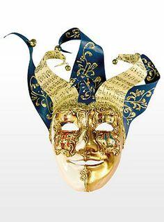 Top2: 79,90€, Jolly Carte Maschile oro bianco - Venezianische Maske