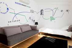 vinyl, living room, couch, wall — Designspiration