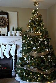 Burlap Christmas tree.