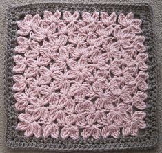 Mommy Crochet Techniques: treble crochet square (looks like a bed of flowers...