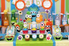 Little Monster Baby Shower Baby Shower Pinterest Monster