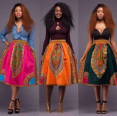 Dashiki skirt, african women's skirt, Angelina style, gathers skirt, By Diyanu African Fashion Designers, African Inspired Fashion, African Print Fashion, Africa Fashion, Fashion Prints, Ankara Fashion, Skirt Fashion, African Dresses For Women, African Print Dresses