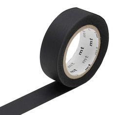 Rouleau de masking tape noir. Idéal pour le scrapbookin, le relooking ou la personnalisation d'objets.  Longueur : 10 mètres / largeur : 15 mm. 3,50 € http://www.lafolleadresse.com/masking-tape/1598-masking-tape-noir.html