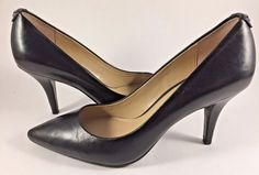Micheal Kors Black Leather Flex Mid Pumps Womens Size US 6M #MichaelKors #PumpsClassics #Casual