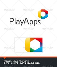 Play Apps   Logo Design Template Vector #logotype Download it here: http://graphicriver.net/item/play-apps-logo-template/3531449?s_rank=786?ref=nexion
