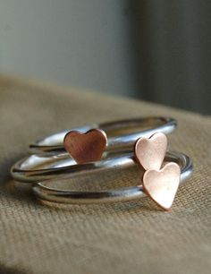 Heart Stacking Rings <3