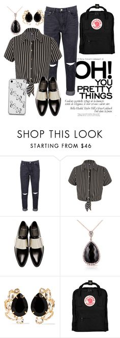 """""""Blouse and Jeans"""" by rock-my-hillbilly ❤ liked on Polyvore featuring Boohoo, City Chic, Givenchy, Kobelli, Bounkit, Fjällräven, blackandwhite, blouse, prettythings and blouseandjeans"""
