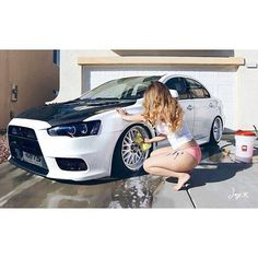 EVO X getting a bath