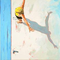 "Saatchi Art Artist Elizabeth Lennie; Painting, ""Yellow Cap (Sold)"" #art"
