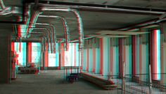 https://flic.kr/p/TbZbno | Interieur Blaak-16 Rotterdam 3D | anaglyph stereo red/cyan -  by Wim Hoppenbrouwers
