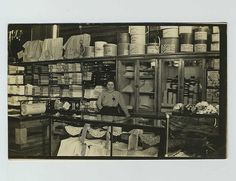 Early RPPC Store Shop Interior Staff Woman Postcard Hats Millinery Fabric qq6488
