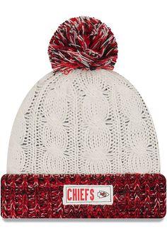 New Era Kansas City Chiefs Brown Rugges Tag Womens Knit Hat - 5903763 3cf628202