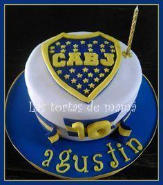 Resultado de imagen de decoracion de cumpleaños infantiles de boca juniors #futbolbocajuniors 10th Birthday, Birthday Cake, Pastel Cakes, Candy, Football Cakes, Desserts, Papi, Messi, Bananas
