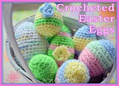 Crocheted_Easter_Eggs Tutorial ✿⊱╮Teresa Restegui http://www.pinterest.com/teretegui/✿⊱╮