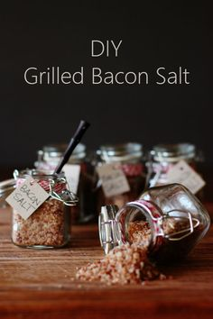 DIY Grilled Bacon Salt