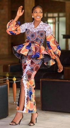 African Prom Dresses, Latest African Fashion Dresses, African Dresses For Women, African Print Fashion, Africa Fashion, African Attire, Slit And Kaba Styles, Ankara Gown Styles, Camisoles