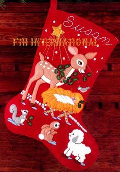 DIY Bucilla Manger Scene  15 Felt Christmas Stocking