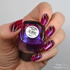 Nailpolis Museum of Nail Art | Purple magic looping effect by simplynailogical