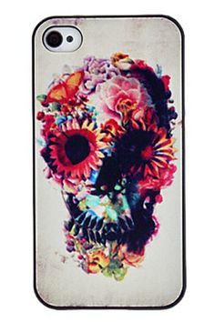 REGISTER ON PERSNMALL.COM Flower Print Hard Case for iPhone 4/4S