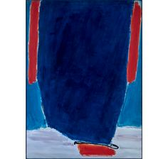 """José Guerrero (1914–1991) Azul Intenso, signed, titled and dated `JOSÉ GUERRERO/ AZUL INTENSO/182 X 132 – 1980/José Guerrero"""" (on the reverse) oil on canvas   Christie's Modern Art, Contemporary Art, Abstract Expressionism, American Art, Oil On Canvas, Art Decor, Blues, Nyc, Flat"""
