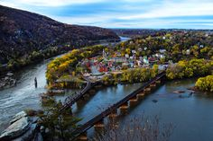 Harpers Ferry , West Virginia where the Potomac and Shenandoah Rivers meet. This place is beautiful!!