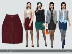 The Sims Resource: Suede skirt by Paogae • Sims 4 Downloads