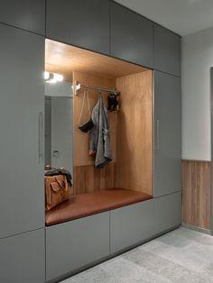 Home Room Design, Interior Design Kitchen, House Design, Home Entrance Decor, House Entrance, Entry Closet, Modern Entry, Wardrobe Furniture, Cupboard Design