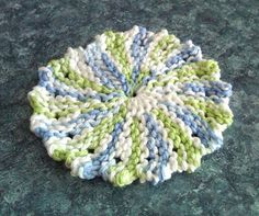 Coffee n' Crafts: Knit Patterns round coaster