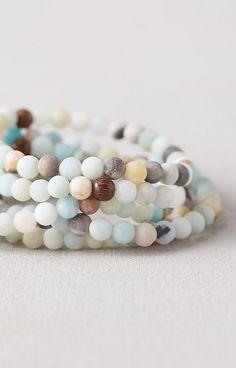 Beaded Band Bracelets, Set of 5
