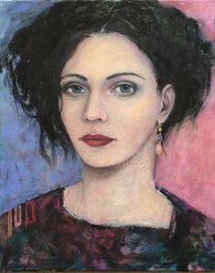 by AliceRudolf, oil on canvas Alice, Portrait Art, Portrait Paintings, Acrylic Art, Face Art, Figure Painting, Woman Face, Figurative Art, Japanese Art