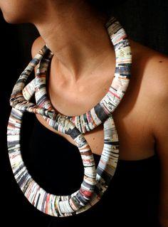 The infinite, 2009  Design: M. Francesca Batzella  Materials: 3mm cardboard, paper strips cut from newspapers, glue.