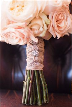 Bouquet wrap.  It can be as individual as the bride.  I have used fabric from the wedding dress, to trims from the mother's wedding dress.  This intricate wrap with bling is just beautiful  My hat off to the designer. DAVE