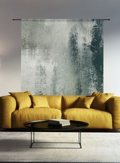 Wandkleed Grunge - Purewood Sofa, Couch, Home Living Room, Love Seat, New Homes, House Design, Vogue, Interior Design, Pillows
