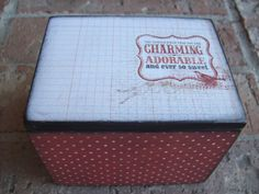 Upcycled Wooden Trinket Box by EspeciallyMade on Etsy, $13.75
