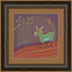 Green Being Framed Print featuring the digital art Imaginary Go-getter by Marti McGinnis