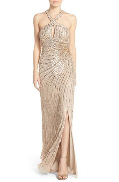2a8ac1dca9 Adrianna Papell Embellished Tulle Gown available at  Nordstrom Tulle Gown